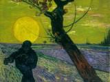 Vincent van Gogh, Seminatore con sole al tramonto, 1888. Olio su tela, 73 x 92 cm. Fondazione EG Bührle