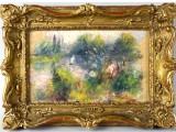 """""""Il paesaggio sulle riva della Senna"""", olio di piccole dimensioni (14 cm x 23 cm) e' stato dipinto intorno al 1879."""