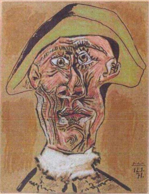Testa-di-Arlecchino»-1971-di-Pablo-Picasso