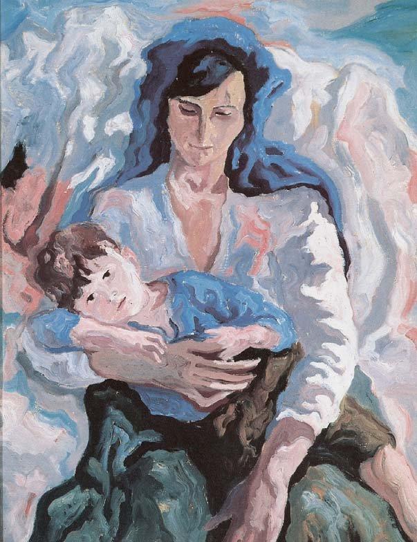 "Carlo Levi, ""La Santarcangelese"", 1936. Olio su tela, Matera, Centro Carlo Levi"