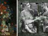 1- Due lottatori si nascondono sotto un vaso di fiori di Van Gogh
