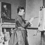 Anna Boch mentre dipinge