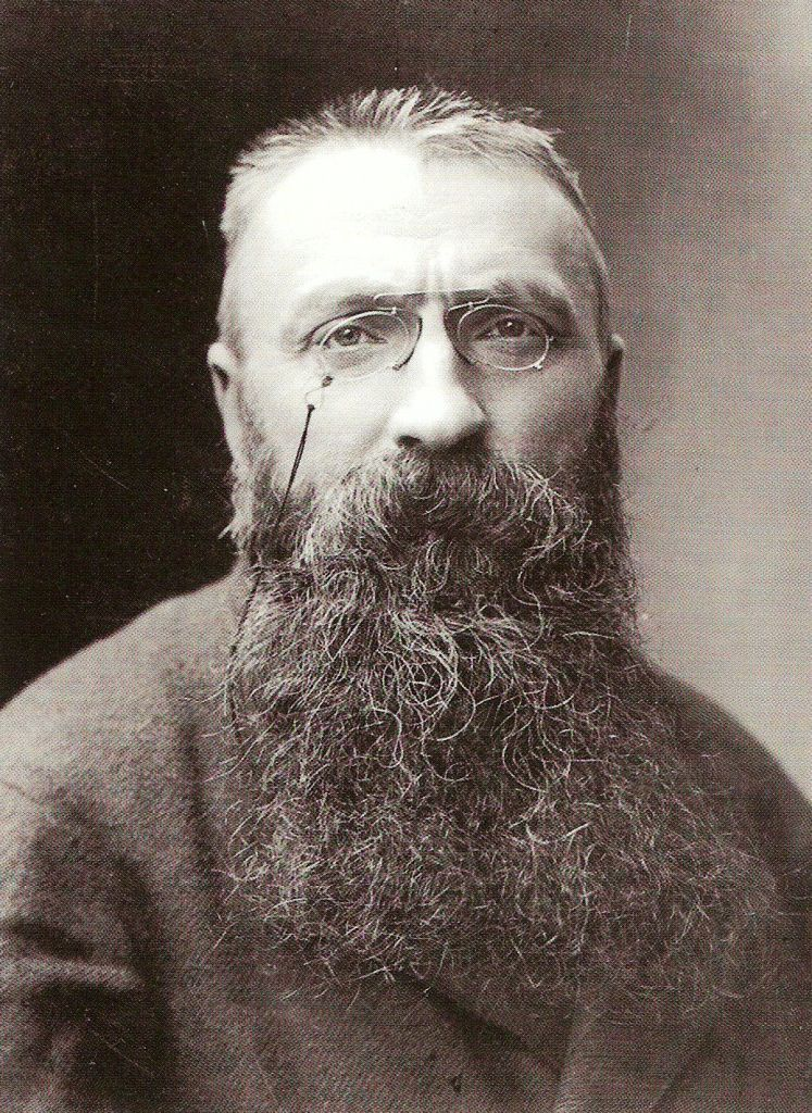 Auguste Rodin ritratto da Nadar nel 1891