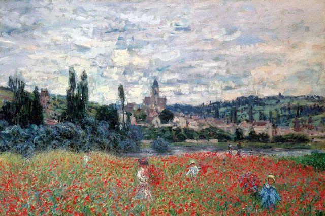 """Claude Monet: """"Campo di papaveri vicino a Vetheuil"""""""