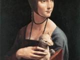 Il dipinto di Leonardo da Vinci, la Dama con l'ermellino, nella quale si riconosce la figura di Cecilia Gallerani.