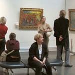 Il vigneto rosso, come è esposto oggi al Museo Pushkin (veduta di insieme)