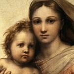 Madonna Sistina - volto della Madonna