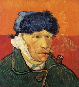 Autoritratto con la pipa di Vincent van Gogh, al Kunsthaus di Zurigo.
